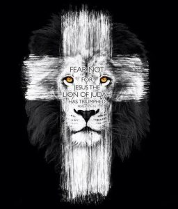 cross lion